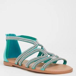 Torrid Rhinestones & Chains Sandals NWT